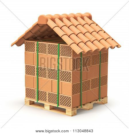 Hollow clay blocks with roof tiles