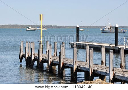 River Pier and Dock: Mandurah, Western Australia