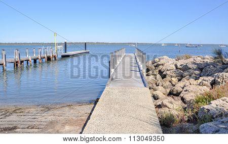 Boat Docks: Mandurah Foreshore, Australia