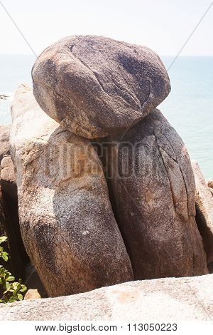 Hin Ta And Hin Yai Rocks ( Grandmother And Grandfather) In Koh Samui