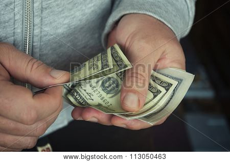 money in the hands