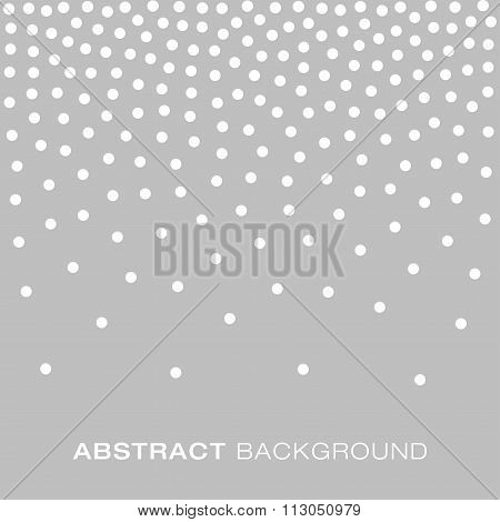 Abstract Gradient Halftone Dots  Background.  Jewelry Silver Background Concept.