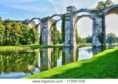 France, The Picturesque Aqueduct Of Maintenon