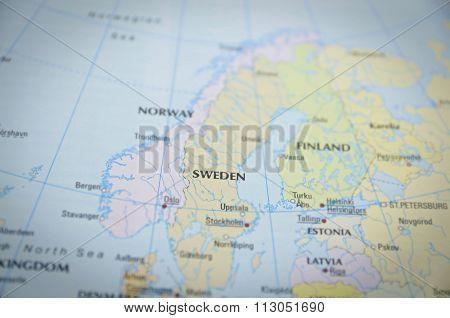 Sweden On Map..