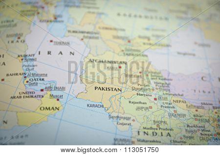 Pakistan On Map..