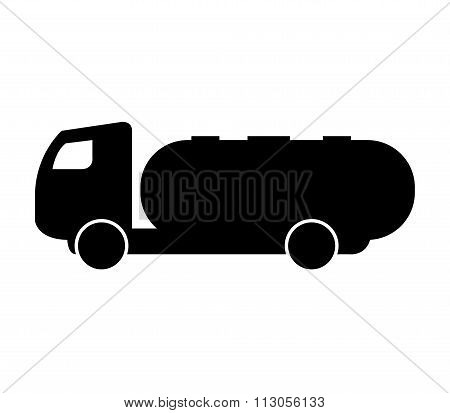 icon colored illustrated tanker truck on white background