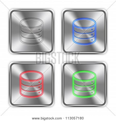 Color Database Steel Buttons