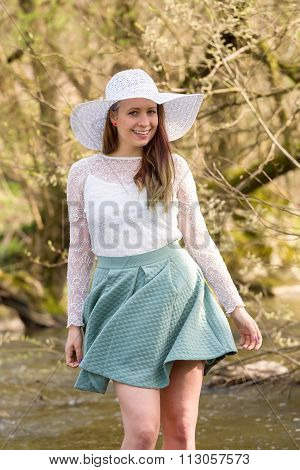 Woman In Spring Creek