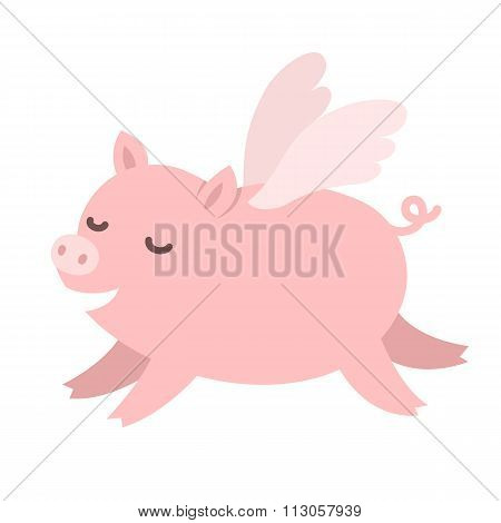 Cute Flying Pig