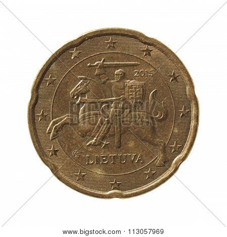 20 Cent Euro Coin From Lithuania