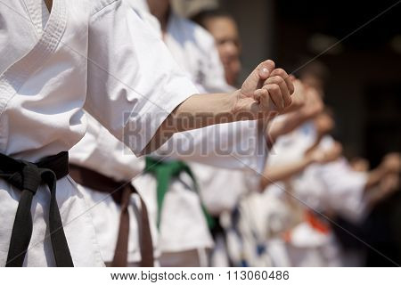 Karate training