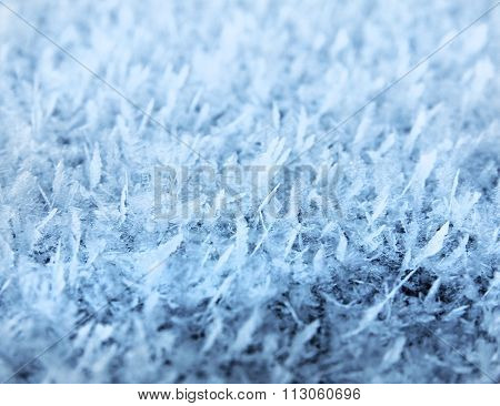 Natural Frost Snow Ice Crystals