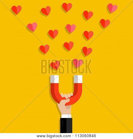 Valentines day illustration.