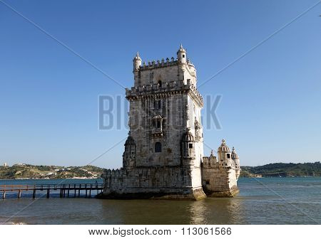 Belem Watchtower In The Summer