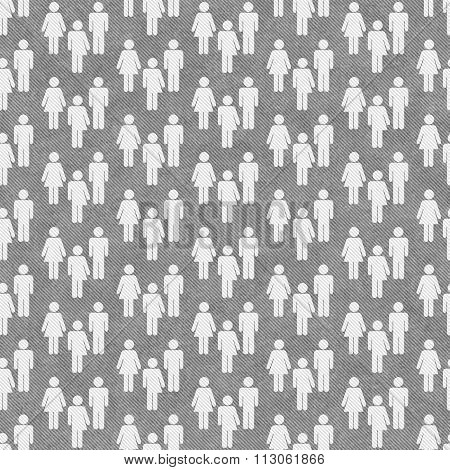 Gray And White Transgender, Man And Woman Symbol Tile Pattern Repeat Background