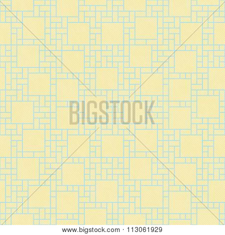 Yellow And Blue Square Abstract Geometric Design Tile Pattern Repeat Background