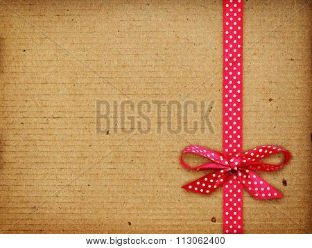 Brown Cardboard  Tied With Bow