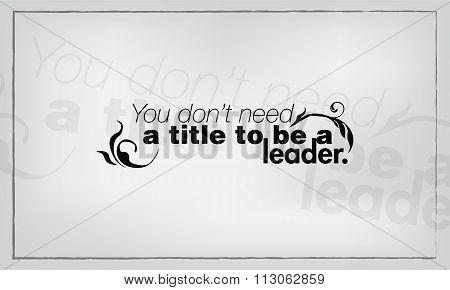 Minimalist Motivational Poster