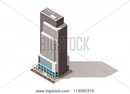 Isometric icon representing city building