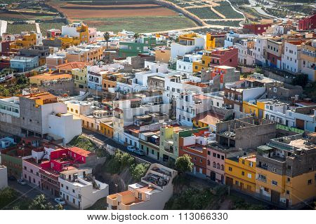 Galdar city on Gran Canaria island