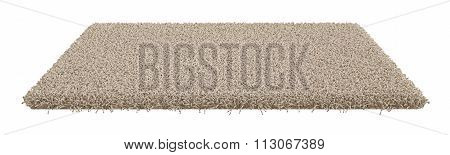 Rectangle Carpet Isolated On White Background
