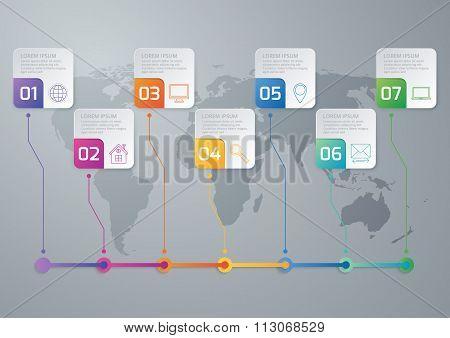 Vector illustration of a timeline infographics