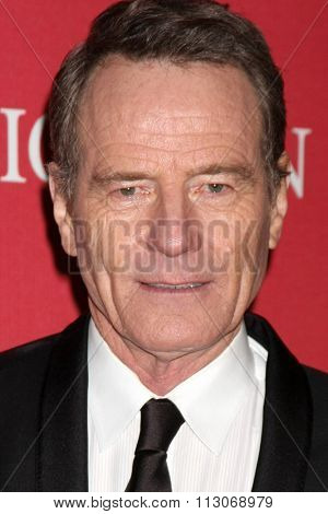 PALM SPRINGS - JAN 2:  Bryan Cranston at the 27th Palm Springs International Film Festival Gala at the Convention Center on January 2, 2016 in Palm Springs, CA
