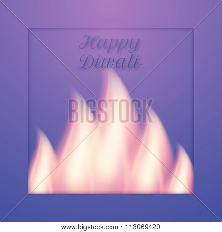 Vector illustration of a happy Diwali day