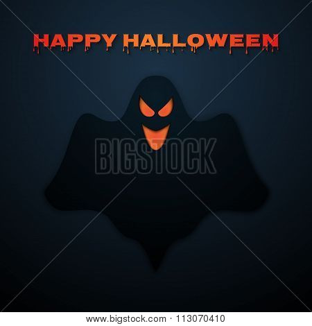 Stock Vector Happy Halloween. Ghost