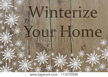 Winterize Your Home Message