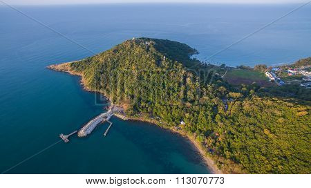 Aerial View Of Khao Larm Ya And Samed Island National Park Rayong Province Eastern Of Thailand