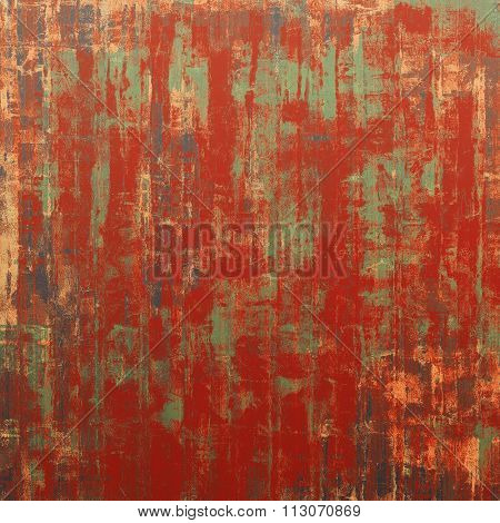 Grunge, vintage old background. With different color patterns: brown; gray; green; red (orange)