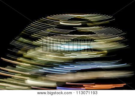 Abstract Light Trails, dome shaped