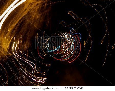Abstract Light Trails, circular