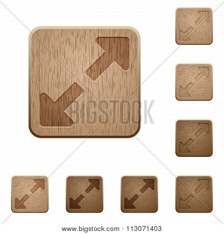 Resize Full Wooden Buttons