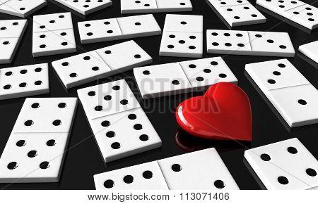 Heart And Domino Blocks