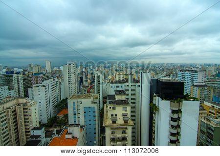 Pollution Over The Skyline Of Sao Paulo