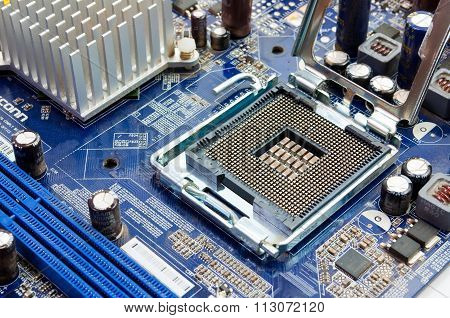 Typical New Pc Computer Motherboard