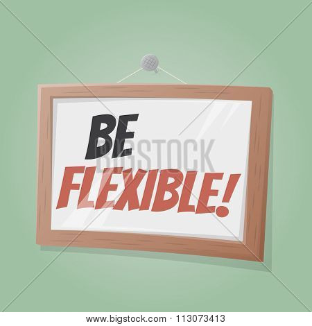 be flexible text in a picture on the wall