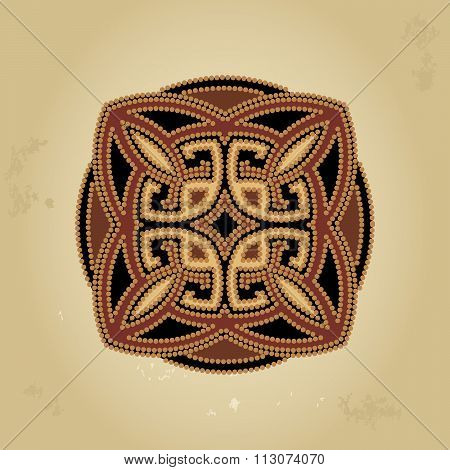 Untitled-1Abstract ethnic sign in sepia brown colors