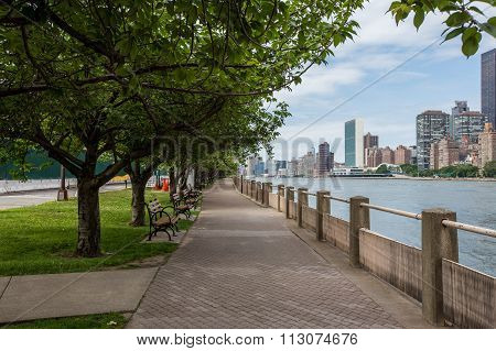 Roosevelt Island In New York City.