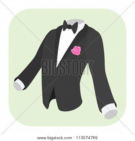 Men formal suit cartoon icon