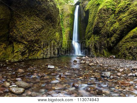 Oneonta Falls In Summer, Columbia River Gorge, Oregon.