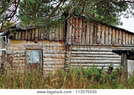 The Old Wooden Building Made Of Wood