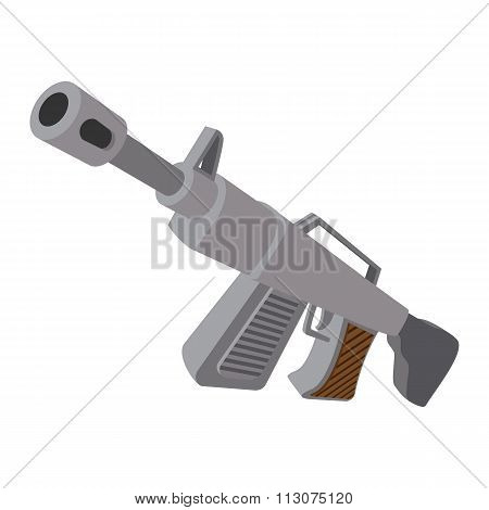 Automatic rifle cartoon icon