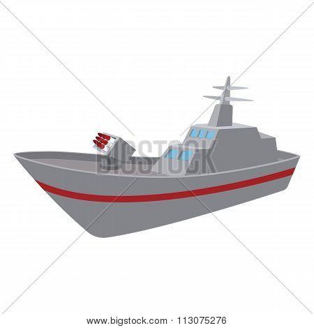 Warship cartoon icon