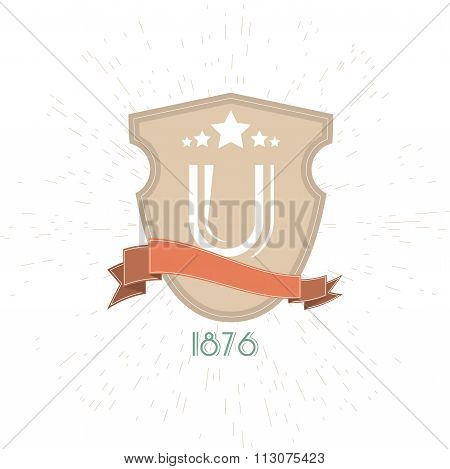 University Emblems And Symbols - Isolated On White Background - Vector Illustration, Graphic Design