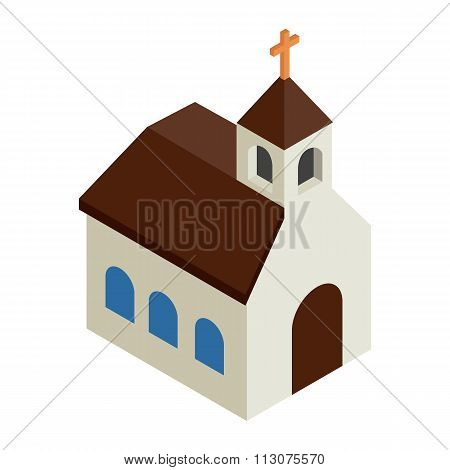 Catholic church isometric 3d icon