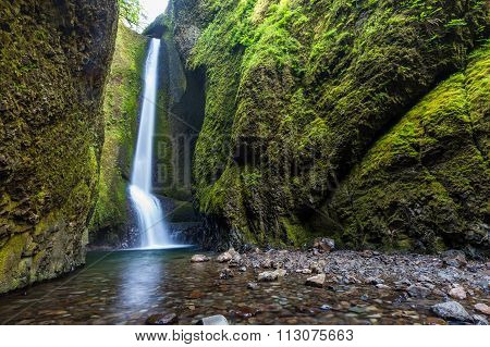 Waterfalls In Oneonta Gorge Trail, Oregon