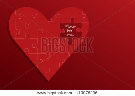 Big red puzzle heart